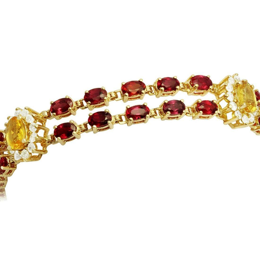 14k Yellow Gold 16.13ct Sapphire 1.81ct Diamond