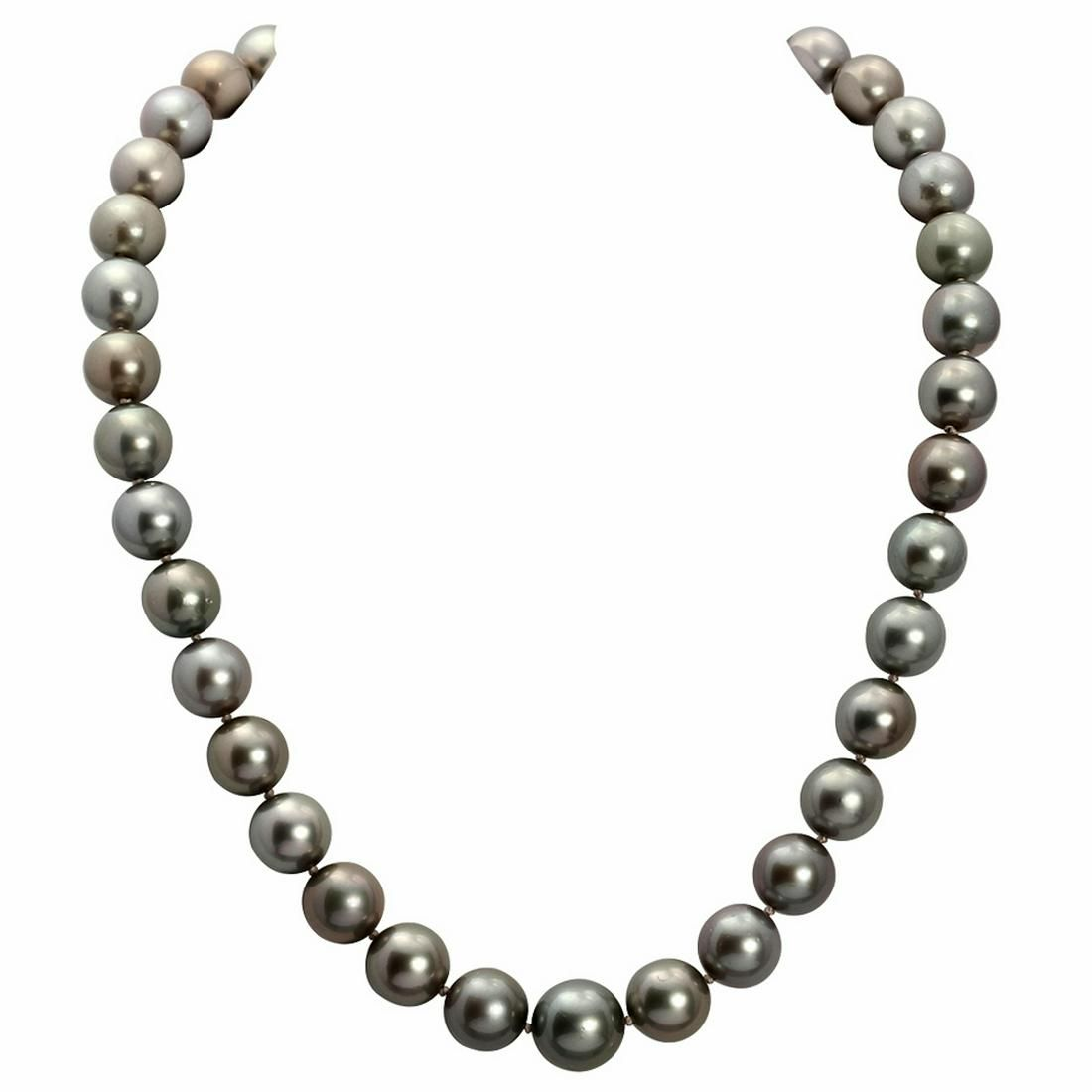 10-13mm Natural Black Pearl Necklace