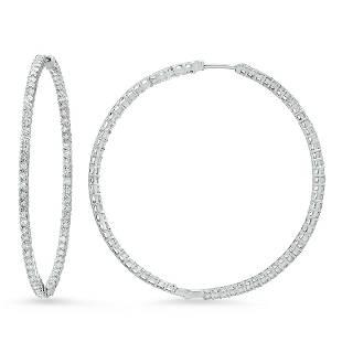 18K White Gold and 4.80ct Diamond Earrings