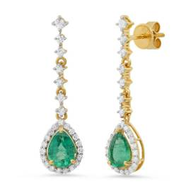18K Yellow Gold Setting with 1.88ct Emerald and 0.73ct