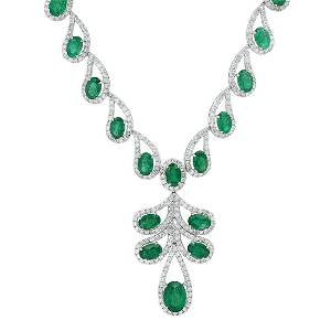 14K White Gold Setting with 19.86ct Emerald and 7.76ct
