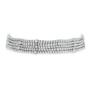 18K White Gold and 7.53ct Diamond Bracelet