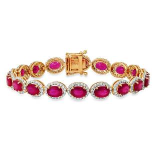 14K Yellow Gold Setting with 20.47ct Ruby and 2.57ct