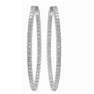 14k White Gold 3.89ct Diamond Earrings