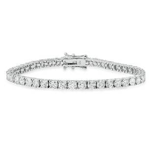18K White Gold Setting with 9.32ct Diamond Bracelet