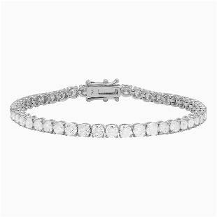 18k White Gold 8.74ct Diamond Tennis Bracelet