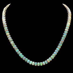 14K Yellow Gold and 29.79ct Opal Necklace