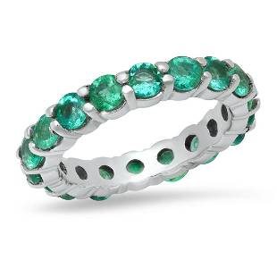 14K White Gold and 2.64ct Emerald Ring