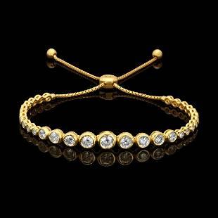 14k Yellow Gold 2.65ct Diamond Bracelet