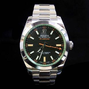 Rolex Milgauss 40mm Mens Stainless Wristwatch