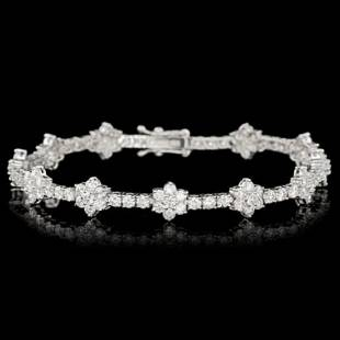 18k White Gold 7.02ct Diamond Bracelet