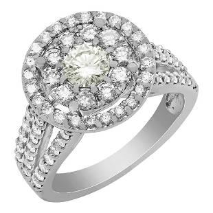 14k White Gold 0.47ct & 1.87ct Diamond Ring