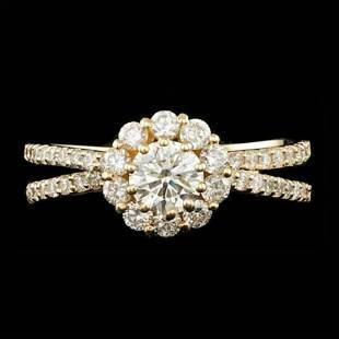 14K Yellow Gold and 0.82tcw Diamond Ring