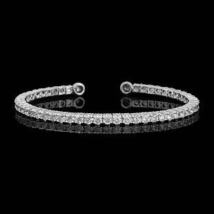 14k White Gold 3.42ct Diamond Bracelet