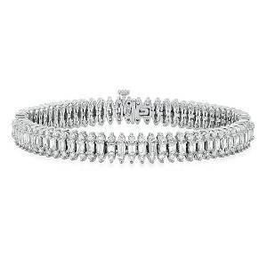 18K White Gold Setting with 8.32ct Diamond Bracelet