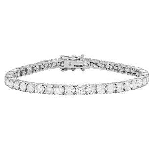 18k White Gold 10.75ct Diamond Tennis Bracelet