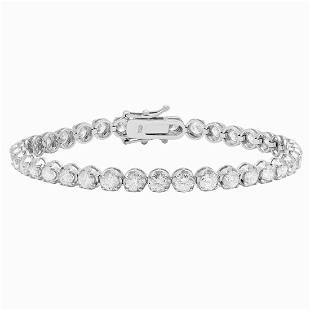 18k White Gold 7.32ct Diamond Tennis Bracelet