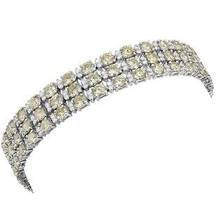 18k White Gold 16.84ct Diamond Tennis Bracelet