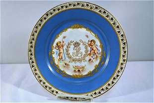 1844 Sevres or Sevres Style Chateau Des Tuileries