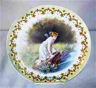 Sevres or Sevres Style Cabinet Plate Artist Signed Daly