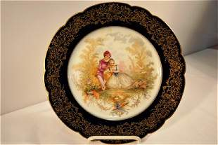 1846 Sevres or Sevres Style Lapis Blue Chateau Tiranon