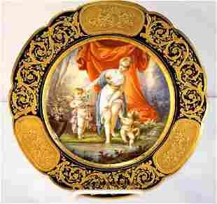 Sevres or Sevres Style La Toilete De Venus Porcelain