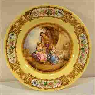 Sevres or Sevres Style 2 Maids & Young Man and Sheep in