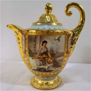 Royal Vienna Teapot ,signed Wagner