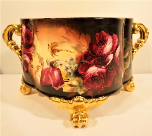 Pickard Hand Painted, Signed Footed ,Cache Pot