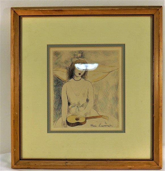 """Marie Laurencin (French, 1885-1956), """"Jeune fille à la"""