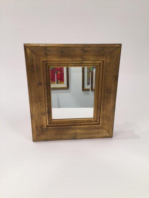 Mid Century Vintage Gold Framed Mirror