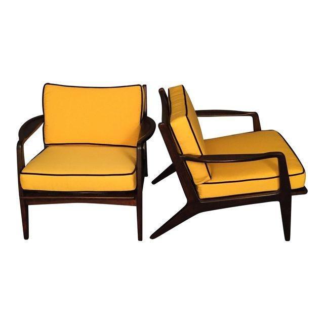 Mid-Century Modern Danish Restored Arm Chairs - A Pair