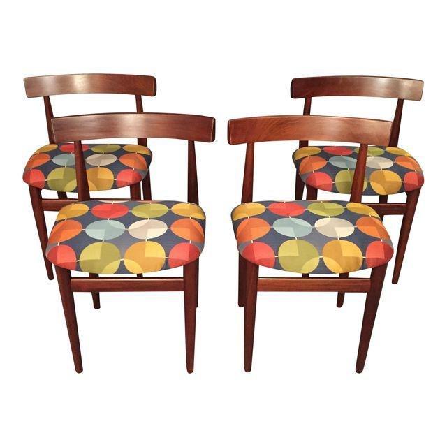 Hans Olsen for Frem Rojle Dining Chairs Set 4