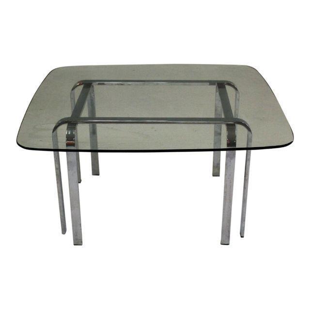 Baughman style Chrome & Glass Coffee Table