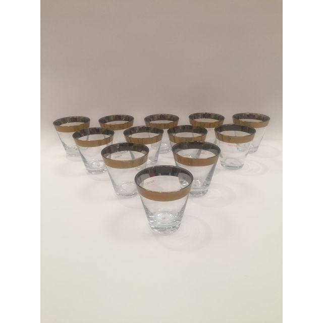 Roost Company Gold Trim Shot Glasses - Set of 12 - 2