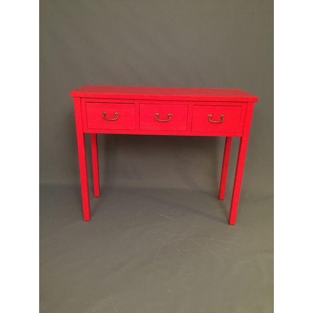 Modern Red Asian Style Console Table - 2