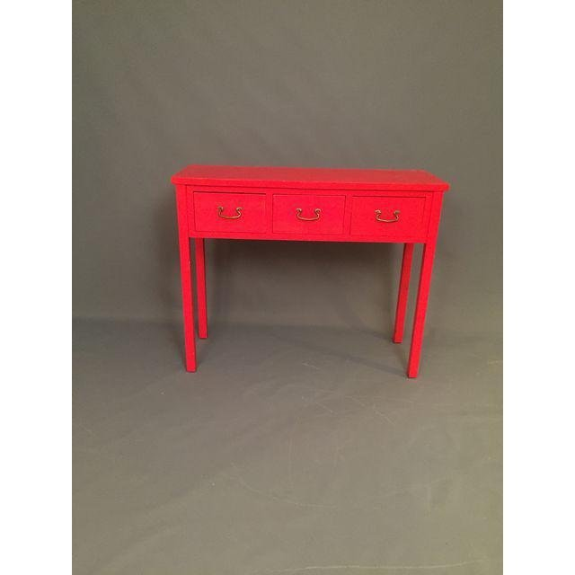 Modern Red Asian Style Console Table - 5