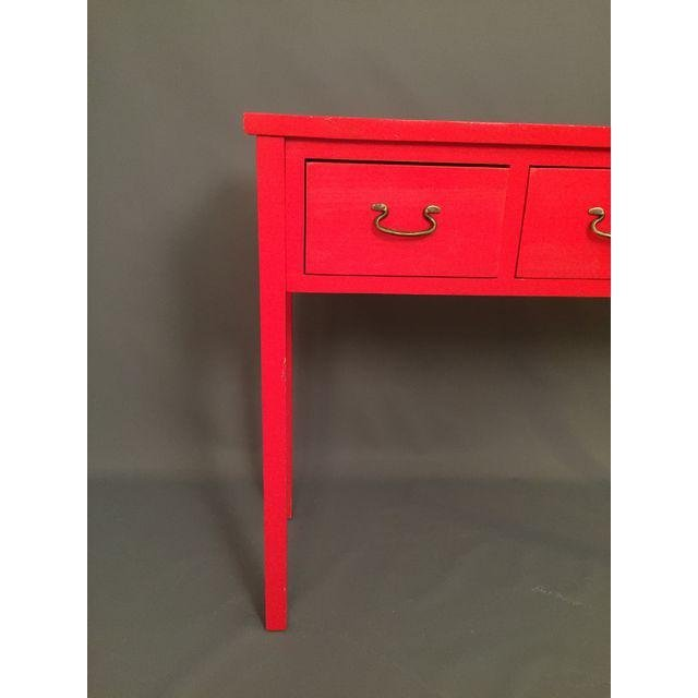 Modern Red Asian Style Console Table - 8