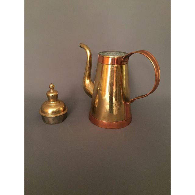 Mid-Century Vintage Gold Copper Coffee Pitcher - 2