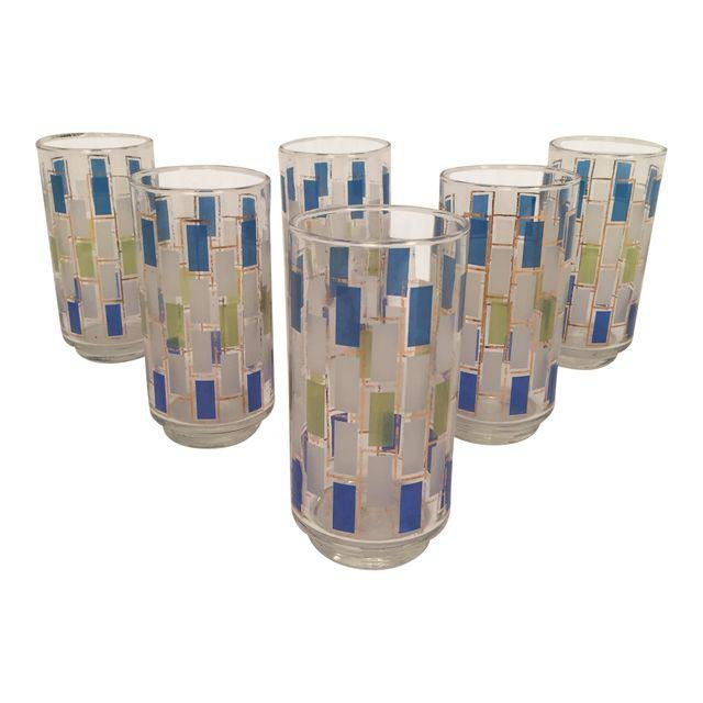 Mid-Century Drinking Glasses - Set of 6