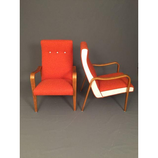 Mid-Century RESTORED Thonet Bentwood Lounge Chairs Pair - 2