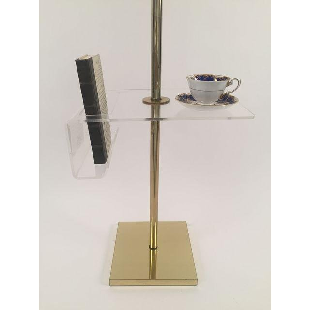 Hollywood Regency Floor Lamp Lucite Holder - 3