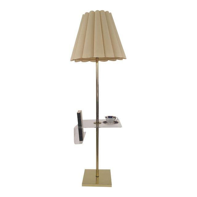 Hollywood Regency Floor Lamp Lucite Holder - 7