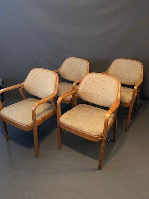 Mid-Century set of 4 Knolls chairs - 3