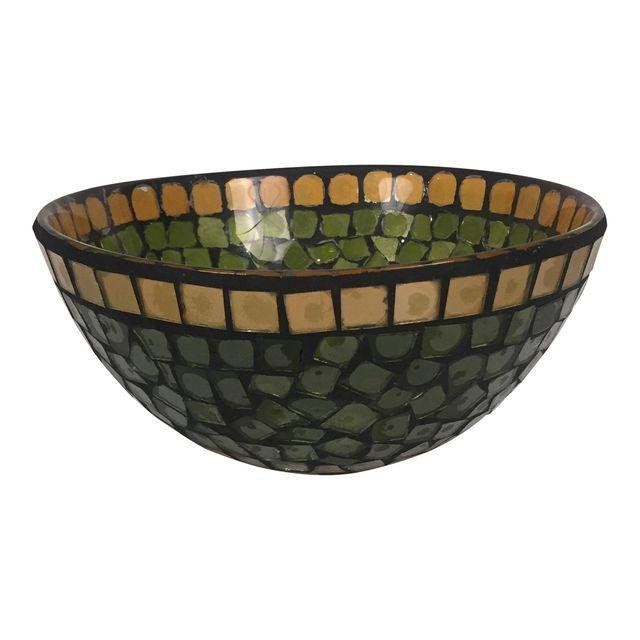 Mid-Century Mosaic Glass Bowl