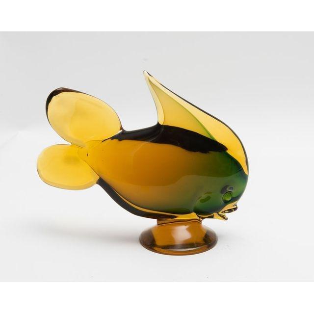 Vintage Hand Blown Murrano Glass Fish Figurine