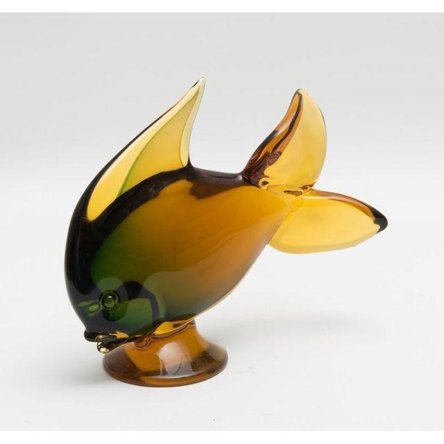 Vintage Hand Blown Murrano Glass Fish Figurine - 2