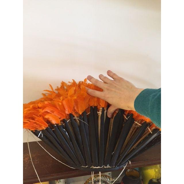 Boho Juju Orange Hat Wall Home Decor - 4