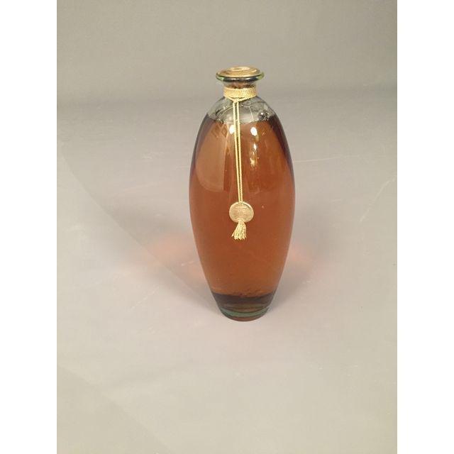 Mid-Century Vintage Perfume Glass Large Bottle