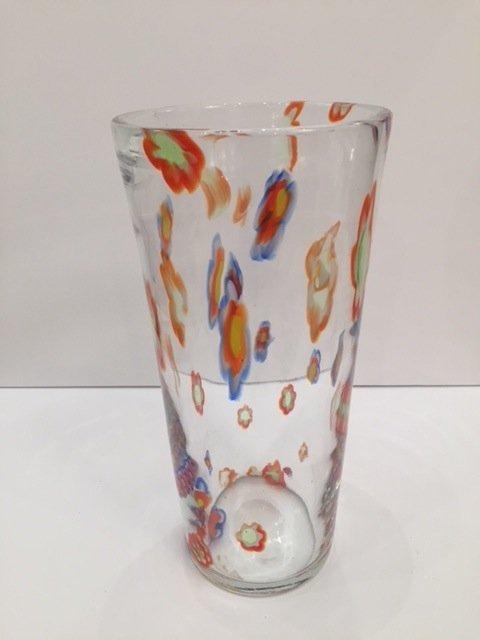Mid Century Glass vase handblown